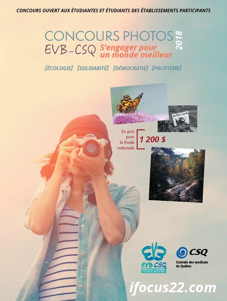 Concours photo EVB CSQ 2018