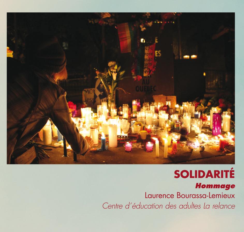 Solidarité - Hommage - Laurence Bourassa-Lemieux